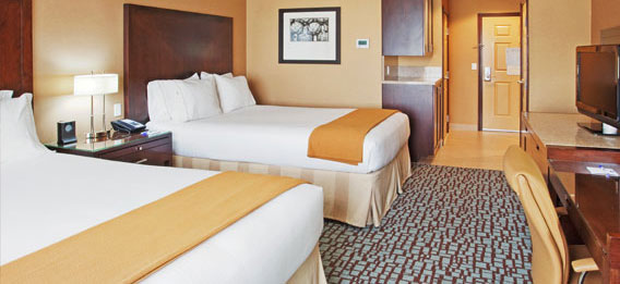 Holiday Inn Express Hotel & Suites Salinas One king/Two queen room